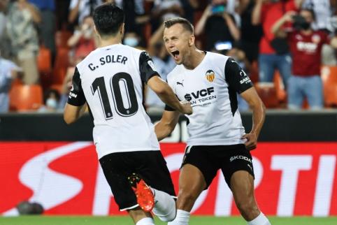 """""""La Liga"""": čempionatą sėkmingai pradėjo """"Valencia"""" ekipa"""