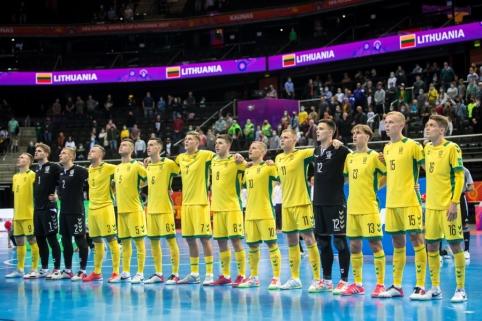 Pagerbti Lietuvai PČ atstovavę salės futbolo rinktinės nariai