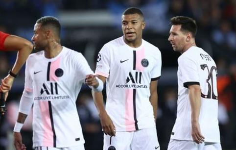 A grupė: PSG žvaigždynas nesugebėjo įveikti Belgijos čempionų, Mančesteryje krito 9 įvarčiai
