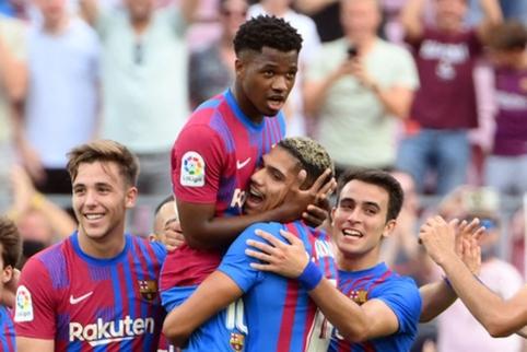 """""""Barcelona"""" lengvai susitvarkė su """"Levante"""", o po traumos grįžęs A. Fati pasižymėjo"""