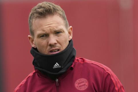 """J. Nagelsmannas """"Bayern"""" žaidimui vadovaus iš virtuvės"""