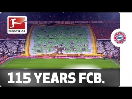 """""""Bayern"""" fanų choreo, skirta 115 metų klubo sukakčiai"""