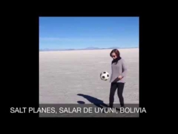 Airių porelė per P.Ameriką keliauja žongliruodama kamuolį