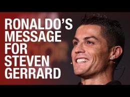C.Ronaldo nusiuntė video žinutę S.Gerrardui