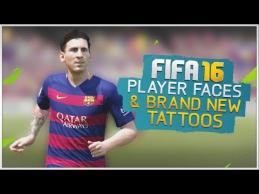 FIFA16 žaidime - nauji veidai ir tatuiruotės