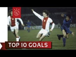 """Dešimt gražiausių J.Cruyffo įvarčių """"Ajax"""" ekipoje"""