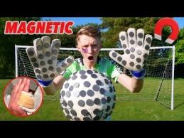 Bandymas su magnetais sugauti kamuolį