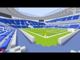"""Minecraft"" pastatyti futbolo stadionai"